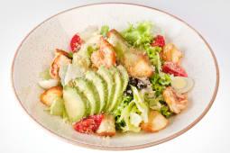 Салат Цезар з креветкою та авокадо (250г)