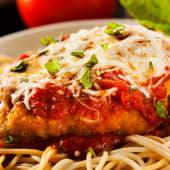 Spaghetti chicken parmegiana
