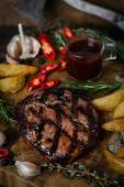 """Стейк """"Рібай"""" Dry-aged beef (суха витримка 21 день) (400/100г)"""