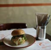 Shami kebab burger