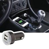 Cargador Carro Auto, 2 Usb, 2 Cables Gratis, Celular, Tablet