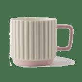 Porcelanowy kubek Pillar biel/róż 10oz
