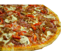 Combo pizza fried bacon mediana