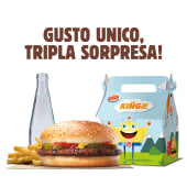 King junior chicken burger menù