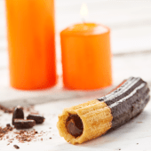 Choco churros golosos de chocolate