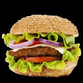 Hamburguesa simple con queso