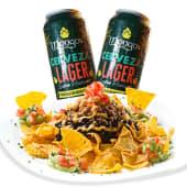 2 cervezas Mongo's + nachos