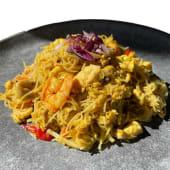 Singapore Noodles con pollo y langostinos - China