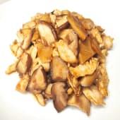 57. Pollo con bambú y setas shiitake
