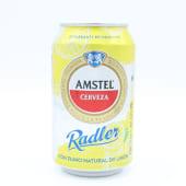 Cerveza Amstel Radler Limón Lata De 33 Centilitros.