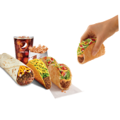 BBB: Triplelupa + Taco + Burrito Comb + CinnamonTwist + Bebida 32oz