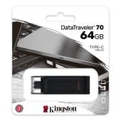 64Gb  USB3.2  Kingston DataTraveler 70 Black Type-C   DT70/64GB