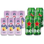 6X Ciuc Radler Zmeura si Lamaie FARA ALCOOL 330ml + 4X Heineken doza