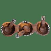 Three Tiny Bowls and Spoons