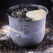 Inghetata artizanala de iaurt cu carbune activ