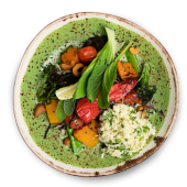Soul Warming Green Curry con Arroz de Coliflor