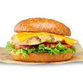 Cheese burger de pollo
