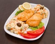 Filetes de Pescada com Salada Russa - Para 1 Pessoa