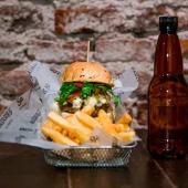 H5 blue burger + bebida