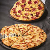 On the doube 2 large pizzas