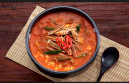 Spicy Beef Soup (with rice)