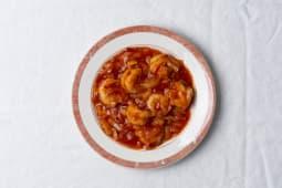 20 Crevettes à la sauce pimentée