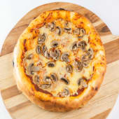 Pizza champiñones (4 porciones)
