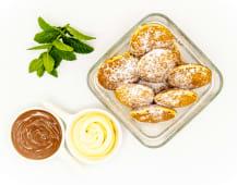 Mini clatite cu nutella si ciocolata alba