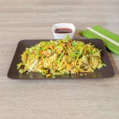 Curry grill wok riža s piletinom i povrćem