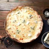 Pizza bianca quattro formaggi
