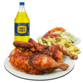 Pollo a la Brasa con papas y ensalada + Gaseosa de 1.5lt