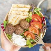 Plato de falafel