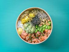Healthy Salmon & Guacamole Poke