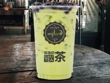 Milk tea de matcha (chá verde)