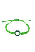 Bracciale plexy & filo nautico verde fluo