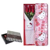 Caja Hello Kitty Love You con 6 Rosas + Bombones Sorini 10un