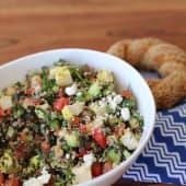 Ensalada de quinoa mediterránea