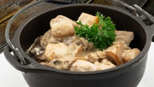 Чугунок з куркою і грибами (350г)