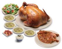 Un pollo + medio pollo gratis