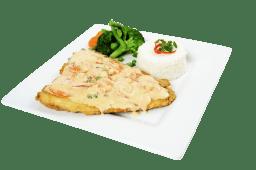 Pescado en salsa de langostinos (filete)