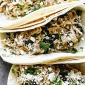 Tacos de pollo poblano
