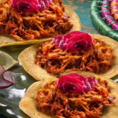Menú tacos cochinita pibil
