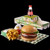 Combo infantil hamburguesa mediana - papa frita pequeña, gaseosa