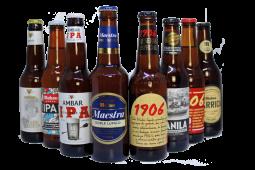 Pack de 8 cervezas premium españolas