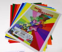 Papel Brillante Colores A4 Pqtx10Un