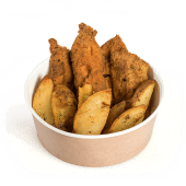 Snitel de pui cu cartofi wedges