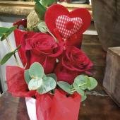 Centro ceramica con dos rosas
