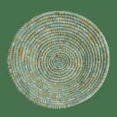 Green/Blue Straw Weaved Basket