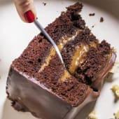 Tarta de chocolate con cajeta