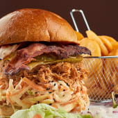 Pulled Pork Burger Sandwich